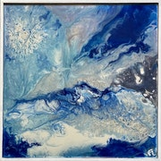Reflets bleus des glaciers.