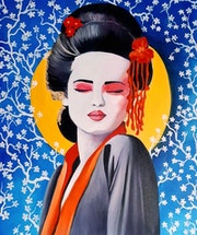 Femme du Monde n°3 / Geischa. Chrystine Mounié