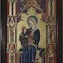 La Vierge à l'Enfant, d'aprèds l'enluminure de Jean de Pucelle, 1319-1334 ? ?. Jean-Claude Geslain