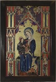 La Vierge à l'Enfant, d'aprèds l'enluminure de Jean de Pucelle, 1319-1334 ? ?.