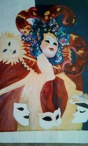 Personnage carnaval de Venise. Mioara Gaubert