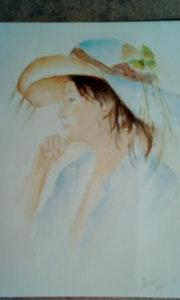 Femme au chapeau.