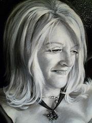 Portrait of Christiane detail.