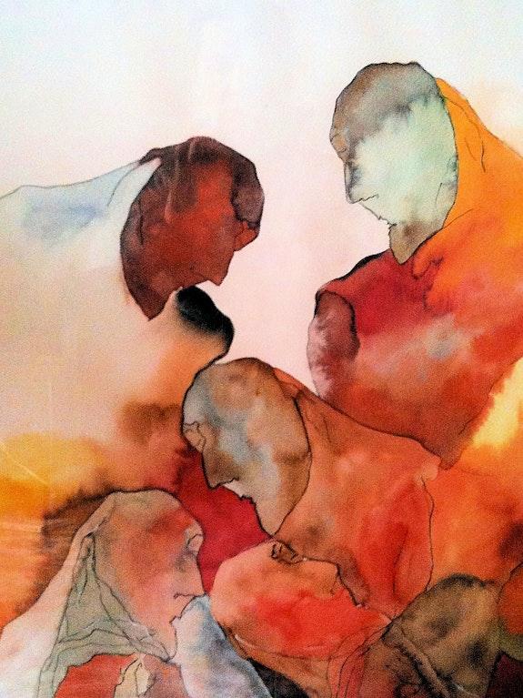 L'exode (encre et aquarelle). Maia Sellent Maia Sellent