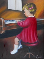 Budding pianist.