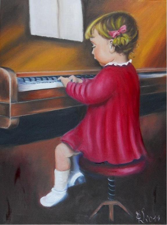 Budding pianist. Marie-Claude Lempereur - Laurent Marie-Claude