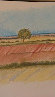 Norte paisaje Norfolk en verano.