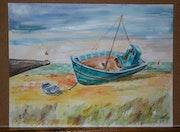 """""""Trawler en marea baja"""". Anne-Marie Duval"""