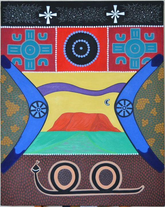Rêve aborigène. Penn Kalet Penn Kalet