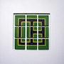 Vert et jaune petit format, 25x25 cm. Pierre-Emmanuel Meuris