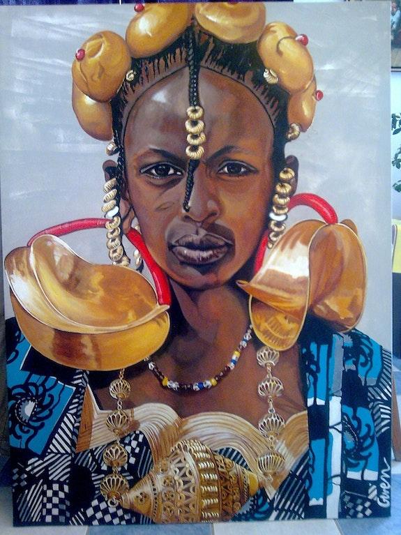 Ein Fulani Frau. Gwen Gwen