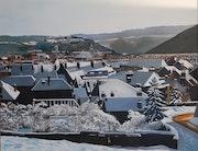 Besancon invierno Doubs Francia.