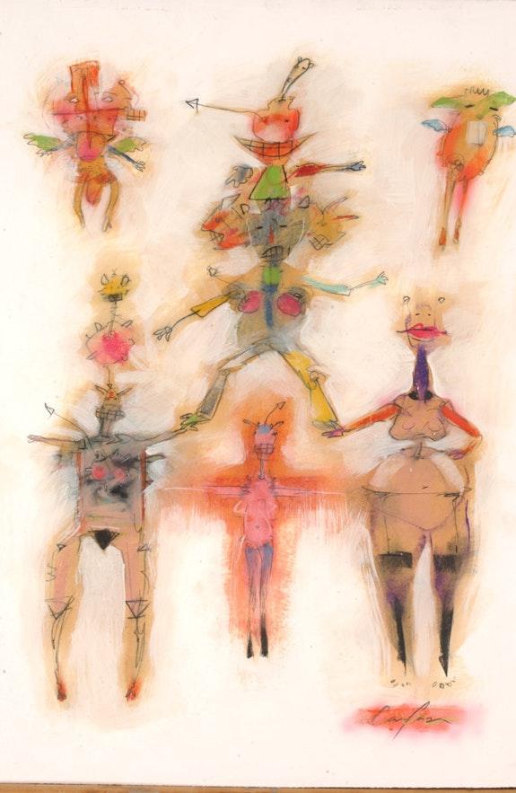 «All for One» (original drawing). Carlos Vera Carlos Vera