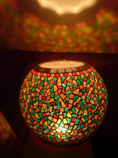 "Mosaic Lampe - Lampe de parfum ""l'harmonie"". Diana Rosa Scholl Diana Rosa Scholl"