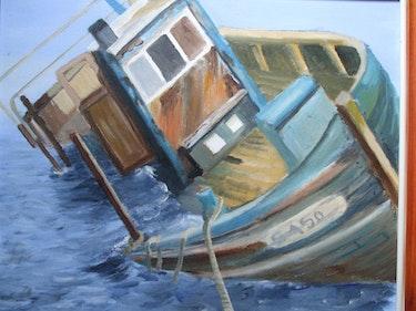 Bateau de pêche, dernier ponton. Matos