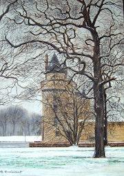 The plessis floss under the snow. Gérald Quinsat