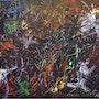 Nellycharme 81 X 60 huile encres acrylique sur toile. 2010. Charles Zarka