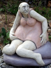 Woman sitting limply ....