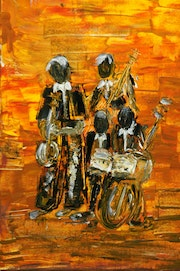 Musicians acrylic on canvas.