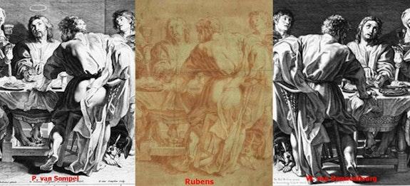 Le dessin «Emmaüs» et les gravures de comparaison. Peter Paul Rubens Galerie Geran