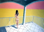 Nackt auf der Terrasse - Einsamkeit.