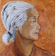 """Portrait """"Along the Mekong"""" inspired by a tv show."""