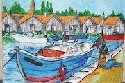 Le marin pecheur, creation sur suport en reproduction d'images papier ou toile..