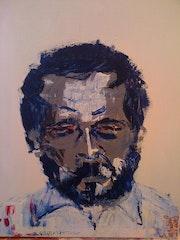 Porträt eines niemand mit einem Spatel. Marc Jadoul