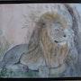 Le repos du roi lion. Jean-Pierre Lemoine