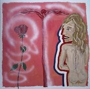 La rosa de Francia, 100 x 100 cm. Jamart