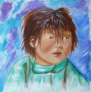 HUA portrait of the young Mongol.