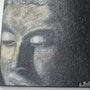 La meditación sobre la pintura acrílica. La materia, está ganando lienzo. Ca