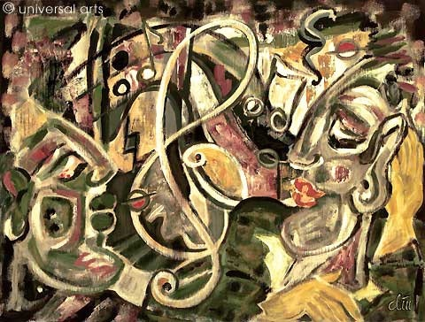 Get the Groove - original painting - Jacqueline_Ditt. Jacqueline Ditt Universal Arts Galerie Studio Gmbh