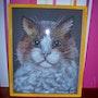 Porträt der Katze. Joelle Fossard