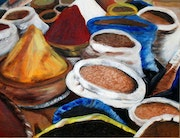 Spices of Morocco acrylic on canvas.