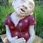 Sandstone bust. Isabelle Vigo