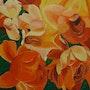 Una y otra vez las flores. Para camilla 4 cm de grosor. Gerlinde Bawendi