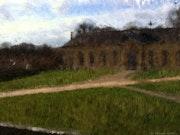 Anciennes écuries du château de la Roche-Guyon.