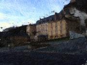 Vue extérieure du château de la Roche-Guyon.