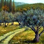 Herbst Olivenöl. Jean-Marc Estellon