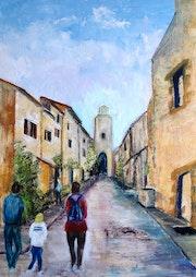 A village street Syran Aude.