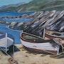 Bord de mer Espagnol que j'affectionne beaucoup ce calme des calas. Andre Blanc