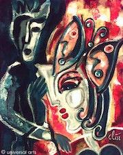 Pintura original - - Perdí mi mente Jacqueline_Ditt.