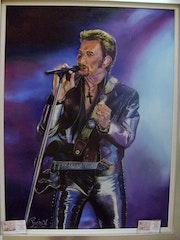 Johnny Hallyday en concert.