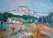 Aubagne mountain Garlaban.