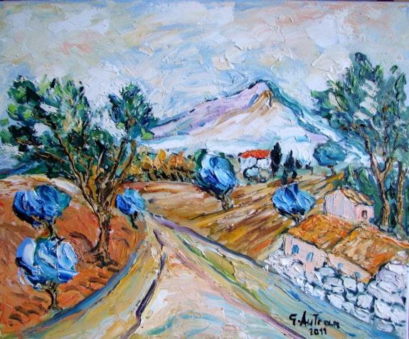Shed eine heilige vistoire in der Nähe von Aix en Provence. Georges Autran Georges Autran