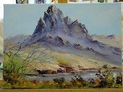 Sérénité : montagne et lac.