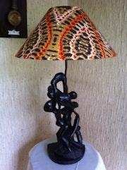 Unusual lamp (single) Sculpture Ebony.