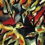 Guerre des Oiseaux - peinture originale - Jacqueline_Ditt. Universal Arts Galerie Studio Gmbh