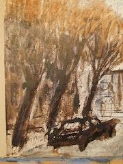 Herbst in Buenos Aires Straße. Roberto Dannemann